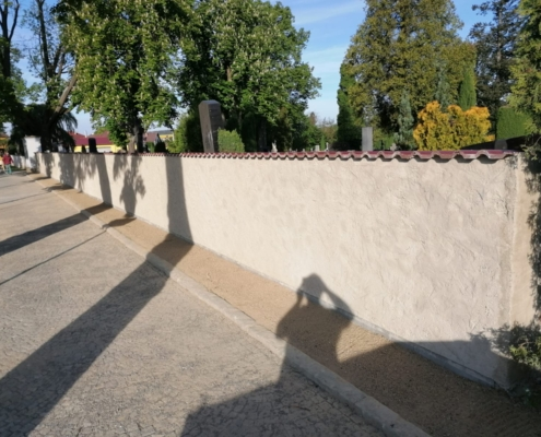 Obnova a oprava oplocení hřbitova Přibyslav