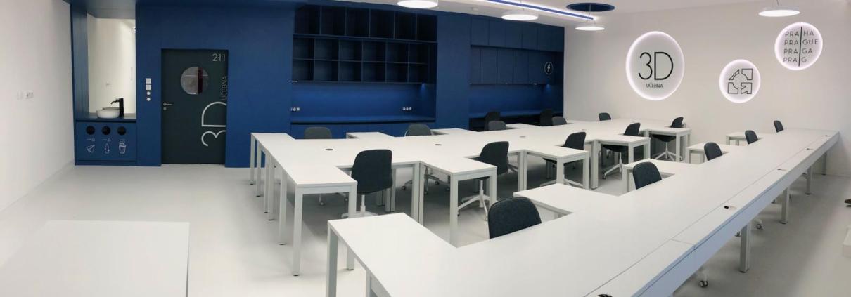 Modernizace učebny pro výuku 3D technologií SPŠ stavební Josefa Gočára, Praha